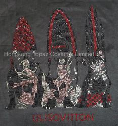 T Shirt Cachorro Personalizados Cães Fashion Ferro em Rhinestone ornamentos para vestidos