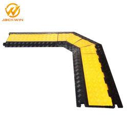 Безопасность дорожного движения 1/2/3/4/5 канала черная резиновая с ПВХ желтый пиджак крышку рампы де кабель трапов для тяжелых условий работы для использования внутри помещений пола для использования вне помещений событие стадии провод