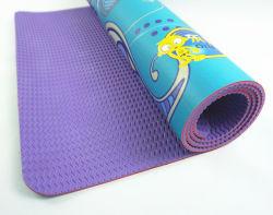 Etiqueta de impressão digital de material de borracha PU Antiderrapagem Tapete do exercício
