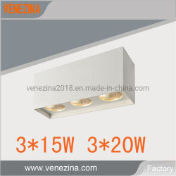 Drievoudige LEIDENE van de MAÏSKOLF van de Inrichting van de Verlichting van de Staalplaat van het Plafond van de Bol 3*15With3*20W
