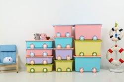 Caixa de armazenamento de dados do organizador empilhável de plástico contentor para roupas e brinquedos