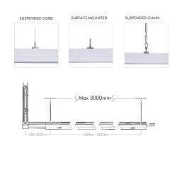 Anti-Glare Graad van 30/60/90/120 boven en beneden LEIDENE van de Tegenhanger Lineaire Trunking van de Lijn Lampen