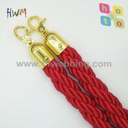 Barrière rouge cordes poteau de contrôle des foules de la corde tordue de file d'attente/en velours avec crochet Silver ou Gold