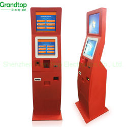 Quiosque de auto-atendimento máquina de gerenciamento de fila de banco todos em uma tela de toque LCD interativo Publicidade