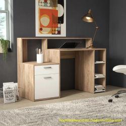 Goedkope Prijs MFC Wooden Oak Color Home computer Desk with Laders (HF-WF04061)