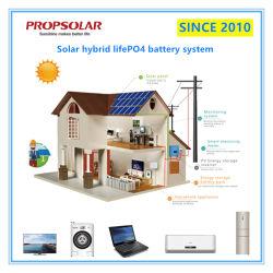 Batterie-hybrider Sonnensystem-Aufladeeinheits-Installationssatz der langen Lebensdauer-5kw der Zeit-LiFePO4