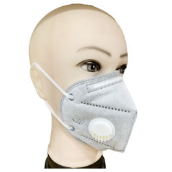 KN95 Máscara respiratória FFP2, KN95 máscara facial de carvão activo com Válvula Respirador Dust-Proof Máscara facial do filtro de carvão activo de máscara facial respirador com válvula de respiração