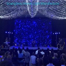 단계 결혼식 배경 피복에 있는 LED 별 커튼에 모두