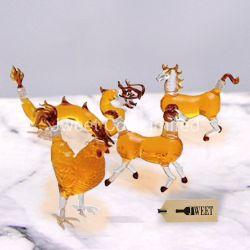 Zodíaco chinês Animal Personalizado Garrafa de Vinho, Lado queimado