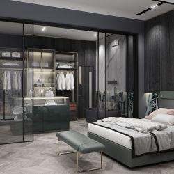 Meubles de vente chaude chambre à coucher personnalisées en bois moderne MDF armoire