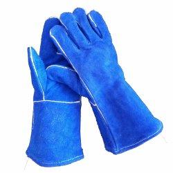 14 Zoll-Kuh-aufgeteiltes Leder-Handschuh-Wärmeschutz-Aufbau-Schweißens-Arbeits-Handhandschuhe