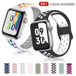 سيليكون ملونة لحزام ساعة Apple Watch بسماكة 44 مم قياس 38 مم سلسلة مراقبة Apple من الفئة الرياضية من كوريا قياس 42 مم 1/2/3/4/5/6/Se