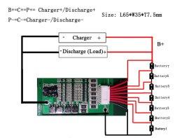 Li-ion 7s 24V 10литиевую батарею защиты системной платы с баланса PCM BMS
