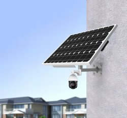 1080p HD 4G 솔라 배터리 및 솔라 패널 일체형 CCTV 실외 감시 무선 SIM 카드 IP 카메라 1개