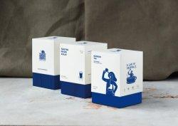 Taza de té de leche moderna Diseño de envases de taza de café, Logo Marca Diseño
