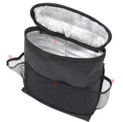 Organizador multifuncional para isolamento de automóveis saco de armazenamento, saco de armazenamento para isolamento de costas para automóvel saco de armazenamento arrefecedor térmico de bolso Multi-Pocket Viagem Auto Acessórios saco Esg12861