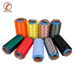 Цветные чрезвычайно высокой молекулярной массой полиэтиленовые волокна 10d