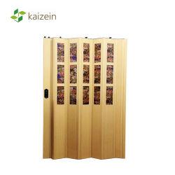 Пластмассовых материалов Tolit двери из ПВХ складные аккордеон двери для ванной комнаты