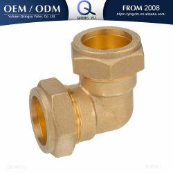 Rohrleitung-Messingrohranschluss-Rohrfitting-Komprimierung-passender Krümmer-Verbinder