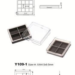 شكل فريد 4 ألوان حقيبة صغيرة من Plastic Eye Shadow Palette صندوق تجميلي التغليف Y109-1