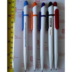 Los clientes de plástico bolígrafo barato con el logotipo, regalo promocional bolígrafo