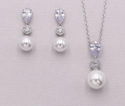 De Juwelen van de Halsband van CZ van de Parel van het huwelijk, de Bruids Juwelen van de Halsband van CZ van de Parel, de Juwelen van het Bruidsmeisje, de Juwelen van de Gift, de Juwelen van de Halsband van de Manier