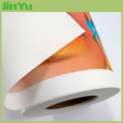 300 GSM глянец растворитель для струйной печати полиэфирных текстильных Canvas