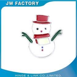 Distintivo di Natale spille smalto rigido personalizzato metallo cappello di Natale Spille con glitter