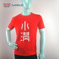 工場卸し売り短い袖の綿の円形の首のTシャツのスパンデックス