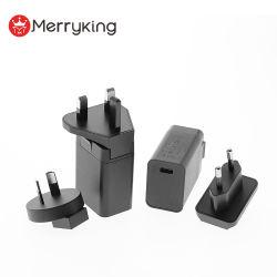 Universal Entrée 100-240 V 50/60 Hz DC 5V 9V 12V 18W adaptateur électrique USB Plug chargeur USB interchangeables