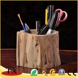 Almacenamiento de sobremesa decorativo de madera bolígrafo soporte para promoción