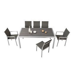 Из алюминия в саду пластиковый обеденный стол из дерева, патио мебель