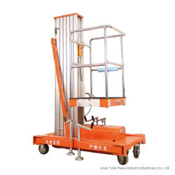 Pousser autour du mât unique hydraulique de l'antenne plate-forme de travail l'homme ascenseur
