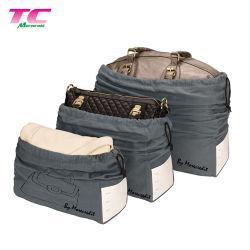 El logo impreso personalizado de algodón orgánico de gran tamaño de las bolsas de muselina Bolsa Drawstring para bolsos de mano o la ropa
