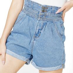 Cintura elástica Senhoras Europeus e Americanos calções de ganga tamanho mais feminino calças quente