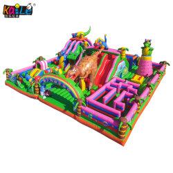 заводская цена Jurassic динозавров открытый детский игрушка надувной замок Bouncer слайд для продажи