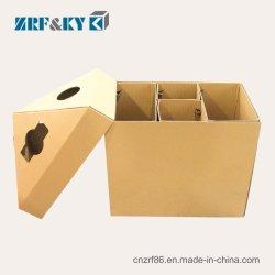 Custom descartáveis recicláveis branco/marrom/preto/Cartão Canelado/Art Latas de contentores de lixo de papel/Lixo