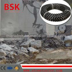 Coupe humide fil diamanté pour marbre d'exploitation minière de pierre
