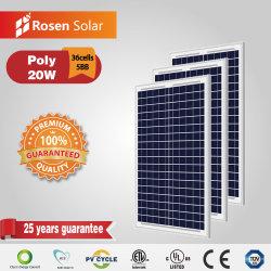 20W Pequeno Módulo PV Poli 12VDC Preço de paineis solares
