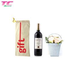 De gepersonaliseerde KringloopBoodschappentas van de Fles van de Alcoholische drank van de Zak van de Fles van de Wijn Voor Aanwezige de Overeenkomst van de Gift van het Huwelijk van de Gift van de Stewardess