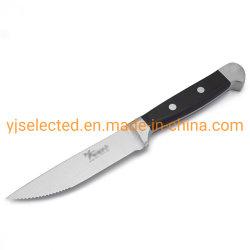 4-3/4 pulgadas de acero forjado japonés dentado fino cuchillo Bistec con gran nitidez