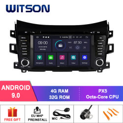 Witson oito core Android Market 9.0 aluguer de DVD para a Nissan Navara/NP300/Alaskan 4G ROM 1080P Tela sensível ao toque 32GB ROM ecrã IPS