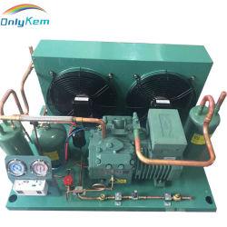 Unità di condensazione del compressore della cella frigorifera con il sistema di raffreddamento di refrigerazione