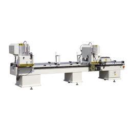 Venster die van de Zaag Machine/PVC van het Knipsel van de Profielen van pvc het Dubbele HoofdMachine maken