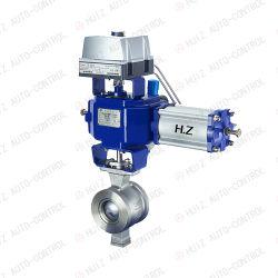 Kohlenstoff-rostfreies DuplexEdelstahl-Bronze Inconel Flansch-Segment-Kugelventil