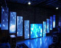 Piscina P1.25 P2.5 Outdoord P1.5 P2 P3 P4 P5 P3.91 P4.81 Transparente Curvo Aluguer Flexível Digital Video wall de painéis publicitários Visor LED