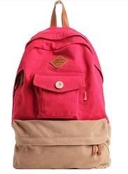 16oz экологически безвредные хлопок Canvas школьные сумки, эргономичный дизайн, стиль (СС-26)