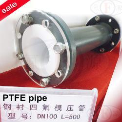 Tubo com revestimento PTFE (com flange de rotação ou fixo)