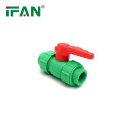 Tutti i generi di PPR convoglia i montaggi di tubi per l'acqua calda e fredda di irrigazione, valvole a sfera di plastica dei doppi sindacati di PPR