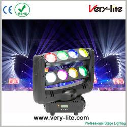 مصباح LED الخاص بالعنكبوت هالوين ذو إضاءة مضاءة 8PCS*10W ضوء رأس متحرك